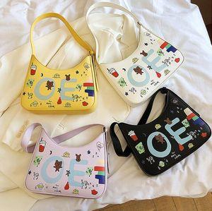 2020 new Handbags Purses Women Graffiti Personality Shoulder Bags Letter Fashion Girls Baguette Bag Crossbody