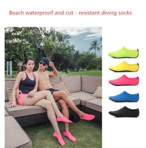 Beach Water Sports Scuba Diving Socks 6 Colors Swimming Snorkeling Non-slip Seaside Beach Shoes Breathable Surfing Socks Sand Play