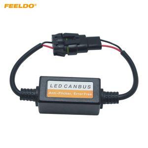 FEELDO 2PCS voiture LED Headlamp Free Error Warning Canceller pour 9005/9006/9012 LED Head Light Canbus Free Error Résistance de charge