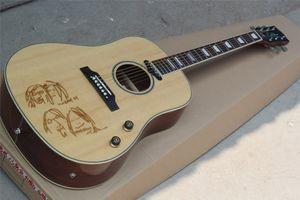 John Lennon 70 anos 41 polegadas guitarra acústica com Rosewood Fretboard, corpo de ligação, pode ser personalizado