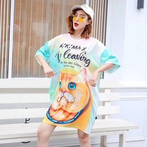 European station Thai tide  lady cartoon sequin print T-shirt female age-loss loose short-sleeved T-shirt summer
