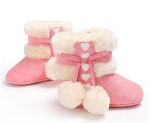 Best Baby Boots Winter Newborn Baby Shoes kids Boys Girls Warm Snow Boots Infant Prewalker Toddler Shoes size 11cm-12cm-13cm