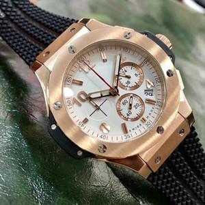 Sport Men Watch Relojes maestros de cuarzo VK de alta calidad para hombres Reloj de cronografía empresarial de acero inoxidable Montre de Luxe Orologio di Lusso