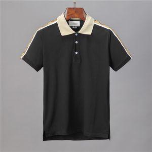 Nova 2020 Luxo Mens Designer camisas Polo T curto verão T-shirt Streetwear luva Turn Down Collar Tops Casual Polo