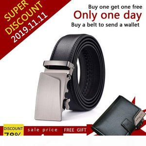 New Designer Leather StrapAutomatic Buckle For Men GirdleBuy a belt to give a wallet only4.99