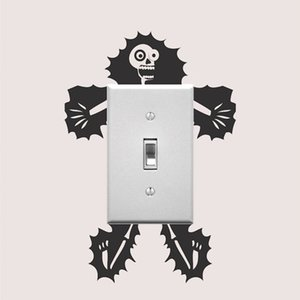 Electrocuted Guy Outlet Decal Sticker Art Light Switch Sticker Cartoon Electrocution Socket Switch Stickers LC1292