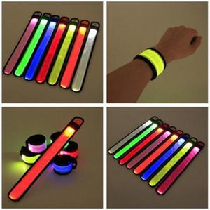 LED Светящейся повязка Мода Дизайн езда Ночь Предупреждение браслет вспышки свет Slap ремешок браслет Креативного LED Дети Игрушка D780