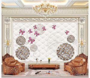 High Quality Custom 3d photo wallpaper murals wall paper Butterfly jewelery boutique 3d living room wallpaper