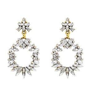 bohe Silber überzogene Türkis-Stein-Ohrringe für Frauen-Schmucksachen