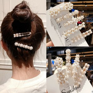 Frauen Perlen-Haar-Clip-Snap Spange Halten Hairpin Haar Party Zubehör Geschenkhaarschmuck Claws