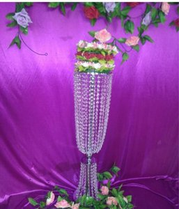 Party Supplies 80cm Tall* 20cm Wedding Candle Holder Romantic Standing Candlestick Wedding Flower Stands Silver Candelabra