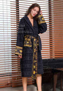 Luxus klassischen Baumwolle Bademantel Männer Frauen Marke Nachtwäsche Kimono warmen Bademantel nach Hause tragen unisex Bademäntel d88888