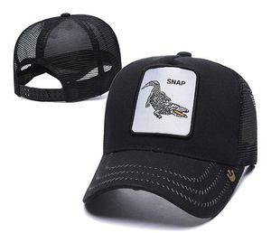 Мода Бейсболка Повседневного Mesh Snapback Cap Вышивка Медведь Крокодил Cock Wolf Болл Высокого качество шлем Новые летний открытый Sun Hat