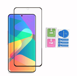 5D No Hole Fingerprint Unlock Tempered Glass Screen Protector For Samsung Galaxy S20 Plus Ultra S10 Note10 Plus S8 S9 Note9 Note 10 9 8