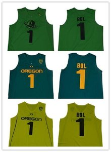 NCAA #1 Bol Bol Oregon Ducks College Basketball Jerseys Men Green Yellow New Arrival Men's Bol sports University Shirts