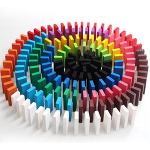 FlyingTown 2cm 120 pezzi di domino pezzi di mattoncini base di legno per bambini giocattoli educativi per bambini regalo di compleanno all'ingrosso