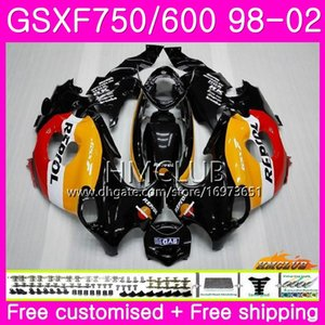 Kit For SUZUKI KATANA GSX750F GSXF750 1998 1999 2000 2001 Repsol orange 2002 Body 3HM.20 GSXF 750 600 GSX600F GSXF600 98 99 00 01 02 Fairing