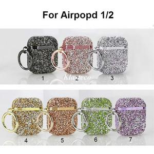 Luxury designer airpod case 3D Bling diamonds glitter hard case for Apple airpod cases Wireless Bluetooth Earphone Accessories earpods case