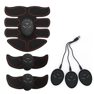 Recargable Inalámbrico Muscular Body Stimulator Inteligente Fitness Entrenador EMS ABS Brazo Abdominal Músculo Ejercitador Masaje para Adelgazar