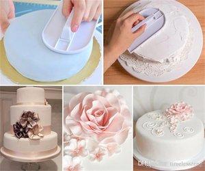 Pastel de plástico suave pulidor Herramientas de azúcar que adorna la pasta de azúcar de Sugarcraft del pulidor de la torta de la hornada espátulas de bricolaje Herramientas de envío