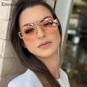 Emosnia Pilot Gradient Lens occhiali da sole unisex senza orlo pilota Occhiali da sole per il 2020 Outdoor Eyewear UV400 Occhiali da sole