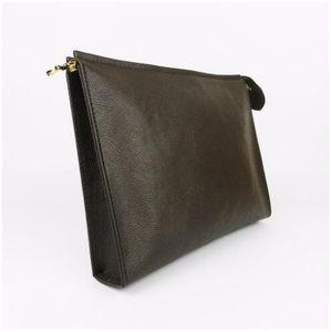 Porte-monnaie lettre fleur de café sacs pour hommes de noir les femmes portefeuilles sacs à main sac à main cosmétiques 47542 viennent avec la boîte
