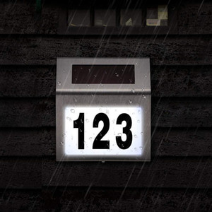 야외 마당 거리 주택 스테인레스 스틸 룸 번호판 주택 번호 Solar 주소 번호 간판에 적합 빛에 적합