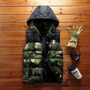 Hot ventes Adolescent coton Gilet HOMMES Vêtements d'extérieur vers le bas coton Hong Kong Style de camouflage Loose Women Gilet