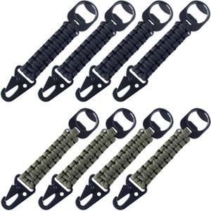 8 قطع qinggear يدويا paracord حلقة تسلق كليب الحبل مع فتحت زجاجة كيرينغ ل الظهر حقائب مفاتيح المحافظ السراويل وأكثر