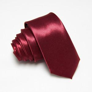 Gravata 슬림 넥타이 부르고뉴 HOOYI 2019 폴리 에스테르 남성의 목에 넥타이 5cm 폭