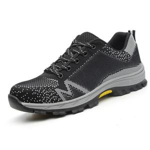 للجنسين الصلب تو أحذية السلامة تنفس أحذية رجالي أحذية خفيفة الوزن مكافحة تحطيم ثقب شبكة أحذية رياضية أحذية واقية