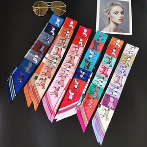4411High-quality Autumn winter new designer fashion women Bag silk scarf soft luxury brands women's scarf wrist lead accessories multi-wear