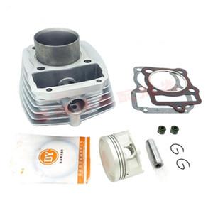 refrigerado por aire del motor de piezas de cilindro de la motocicleta de segmentos de pistón Gasket Bore Kit 67mm para Zongshen CG200 CG 200 198CM3 200cc