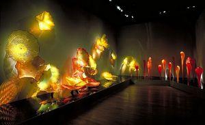 كبير تشيهولي ستايل متعدد الألوان زجاج مورانو المعلقة لوحات رخيصة جدار الفن رخيصة الزفاف البيت مصابيح الحائط