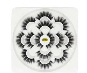 12 ensembles 7 paires Faux 3D Mink Eyelash Naturel Long Faux Cils Extension de cils Doux Vison Cils Faux Cils Outil De Maquillage