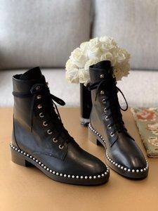Nouvelle hiver Femmes Martin carré en cuir Shorts talon bottillons Bottes Casual Boot Mode Femmes 111701