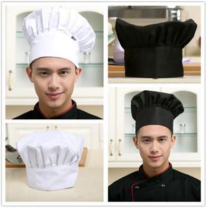 Impression des hommes et des femmes Toque restaurant Cuisine Hôtel nourriture Service de restauration Travail Cap barbecue champignon Chapeau en gros 8 couleurs