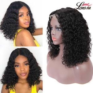 Malezyalı su dalgası dantel ön peruk 13x4 kıvırcık bob insan saçı yeni varış dantel frontal kıvırcık saç bob peruk peruk
