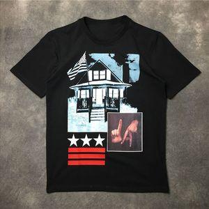 Erkek Stilist Tişörtlü Casual Kısa Kollu Moda Özet Hareketleri Baskı Yüksek Kalite Erkekler Kadınlar Hip Hop Tişörtler Boyut S-XXL