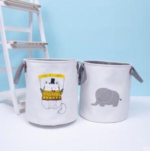Sucios cesta de ropa plegable cesta del almacenaje de juguetes para niños de almacenamiento lindo Bolsas papeleras de dibujos animados de lino Cubo lienzo Bolsos Ropa Organizador PY9