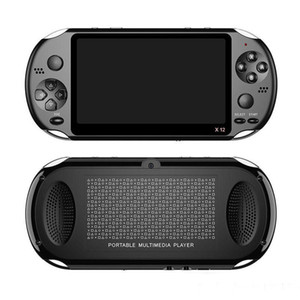 """X12 Lecteur portable Jeu 8 Go de mémoire Console de jeux vidéo portable avec 5.1"""" Lecteur MP3 MP4 32gb écran couleur support carte TF MQ01"""