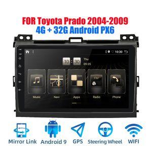 2DIN Android 9 0,0 Ouad Núcleo Stereo Radio Px6 Car Para Land Cruiser Prado 2004 -2009 GPS Navi Audio Video jogador Wifi Bt Rds
