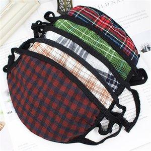 EN STOCK 50PCS lavable réutilisable Masque coton Bouche Visage Couverture respirateurs anti-poussière concepteur visage masque HN288