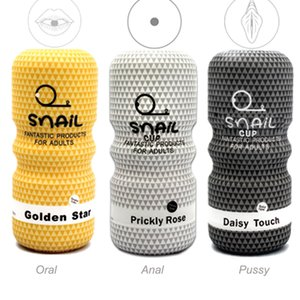Réaliste Pussy Anal Sex Toys Oral AV Vagina Escargot Masturbation Coupe Pénis Exerciseur pour homme