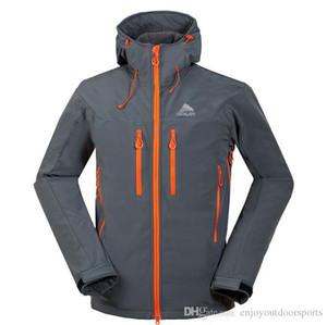Waterproof SoftShell Hiking Jacket Men Windbreaker Breathable Rain Coat Outdoor Thermal Jacket Trekking Camping Fleece Thick Warm Coat WK375