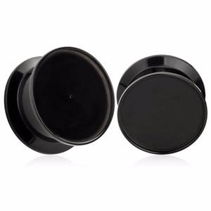 Custom ear plugs black screw acrylic tunnels piercing body jewelry ear gauges free shipping