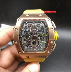 Relógios finos dos homens tipo barril de ouro rosa caixa de aço inoxidável pulseira de borracha moda relógio popular totalmente automático relógio mecânico esportivo