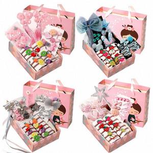 Caja niños 26pcs / Accesorios de pelo lindo determinado del bebé Tela Sun Flower Hair clips pasadores clips niñas tocado regalo YnPk #