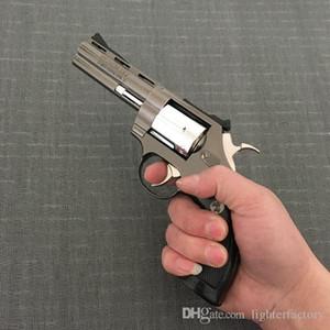 대형 금속 권총 콜트 바이퍼 리볼버 권총 357 라이터 모든 금속 중간 방풍 1 : 1 금속 리볼버 유형 건 라이터.