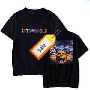 Hot Brand Hot Brand Astroworld T-SHIRT Travis Scott T Shirt Tee Short Sleeve T-shirt Hip Hop Astroworld Black